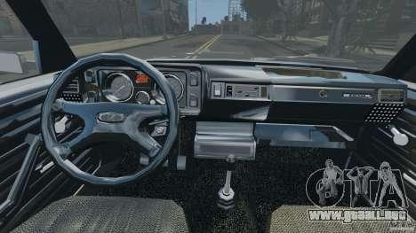 Vaz-21043 v1.0 para GTA 4 vista hacia atrás