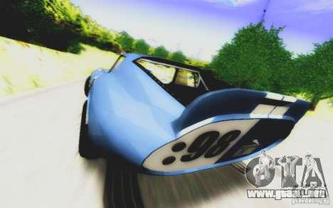 Shelby Cobra Daytona Coupe v 1.0 para la visión correcta GTA San Andreas