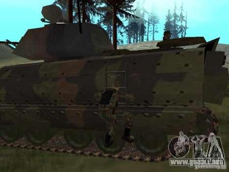 M2A3 Bradley para GTA San Andreas vista hacia atrás