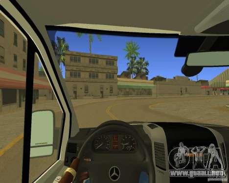 Mercedes Benz Sprinter NYPD police para visión interna GTA San Andreas