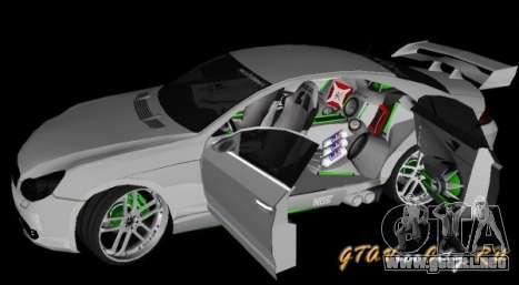 Mercedes-Benz CLS500 The GreenFairy TUNING para GTA San Andreas vista posterior izquierda