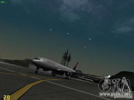 Boeing 767-400ER Delta Airlines para GTA San Andreas left