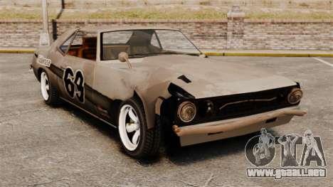 Nuevo colorante oxidado Vigero y Sabre para GTA 4 quinta pantalla