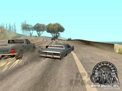 Velocímetro Audi para GTA San Andreas sucesivamente de pantalla