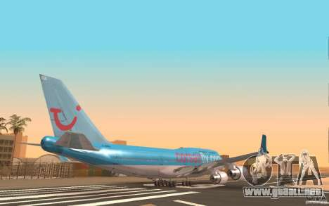 Boeing-747 Corsair Fly para GTA San Andreas vista posterior izquierda