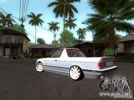BMW E34 Pickup para GTA San Andreas vista posterior izquierda