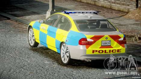 BMW 350i Indonesian Police Car [ELS] para GTA 4 vista lateral