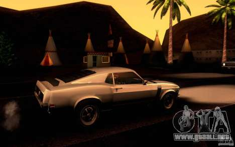 Ford Mustang Boss 302 para vista lateral GTA San Andreas