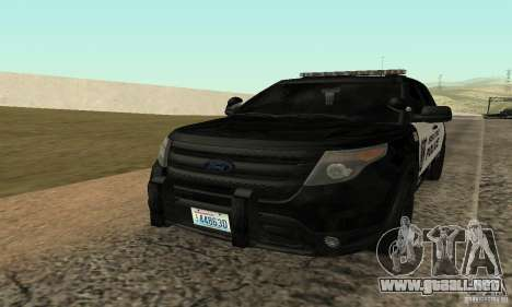 Ford Police Interceptor Utility 2011 para GTA San Andreas
