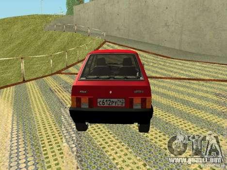 VAZ 2109 v2 para la visión correcta GTA San Andreas