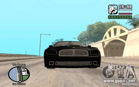Dodge Charger SRT8 para la visión correcta GTA San Andreas