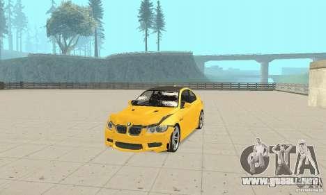BMW M3 2008 para la vista superior GTA San Andreas