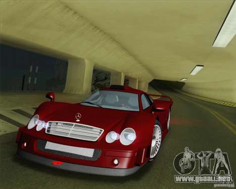 Mercedes-Benz CLK GTR Race Road Version Stock para la vista superior GTA San Andreas