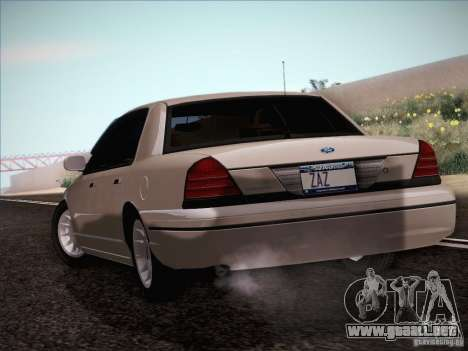 Ford Crown Victoria Interceptor para la visión correcta GTA San Andreas