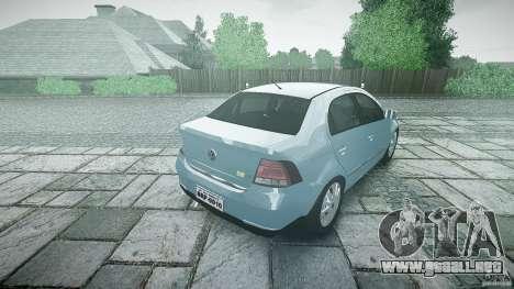 Volkswagen Voyage Comfortline para GTA 4 vista superior