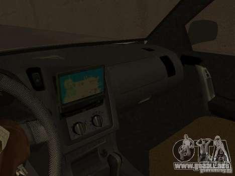 Opel Combo 2005 para GTA San Andreas vista hacia atrás