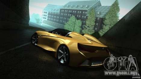 BMW Vision Connected Drive Concept para GTA San Andreas vista posterior izquierda