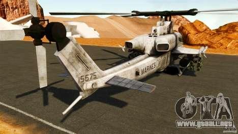 Bell AH-1Z Viper para GTA 4 Vista posterior izquierda