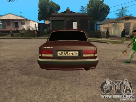 GAS 311055 para GTA San Andreas vista hacia atrás