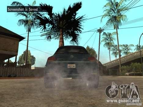 Volkswagen Scirocco 2010 para GTA San Andreas vista posterior izquierda