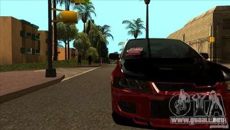 Mitsubishi Lancer Evo 8 Street Drift para visión interna GTA San Andreas