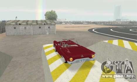 Ford Thunderbird 1957 para GTA San Andreas vista posterior izquierda