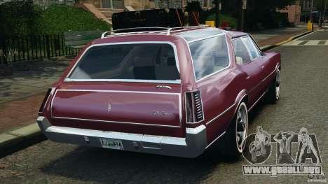 Oldsmobile Vista Cruiser 1972 v1.0 para GTA 4 Vista posterior izquierda