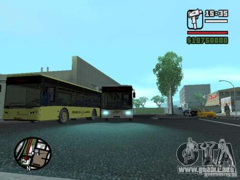 LAZ InterLAZ 12 para GTA San Andreas vista hacia atrás