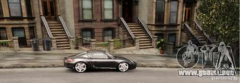 Porsche Cayman para GTA 4 Vista posterior izquierda
