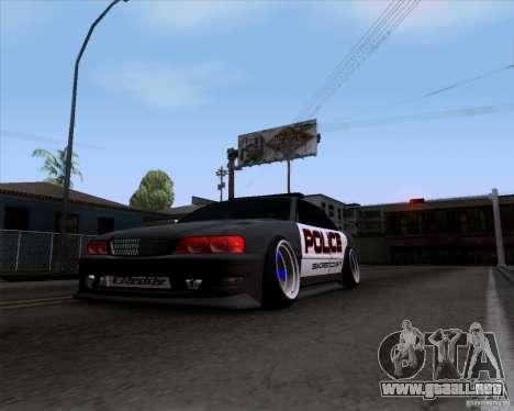 Toyota Chaser jzx100 Drift Police para GTA San Andreas