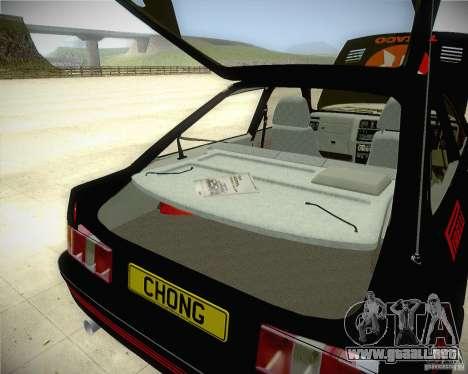 Ford Sierra RS500 Race Edition para visión interna GTA San Andreas