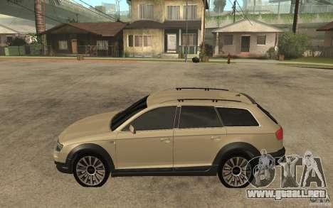 Audi Allroad Quattro para GTA San Andreas left