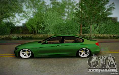 BMW 3 Series F30 Stanced 2012 para GTA San Andreas left