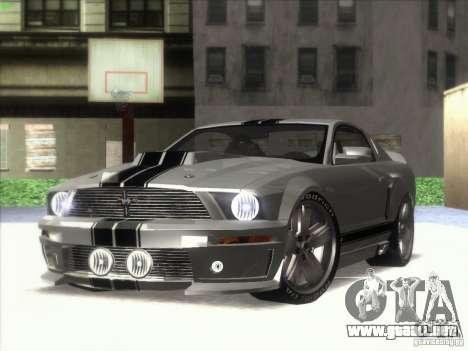Ford Mustang Eleanor Prototype para GTA San Andreas vista posterior izquierda