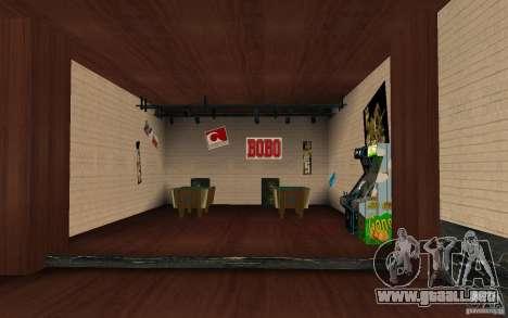 Un nuevo bar en Gantone v. 2 para GTA San Andreas tercera pantalla