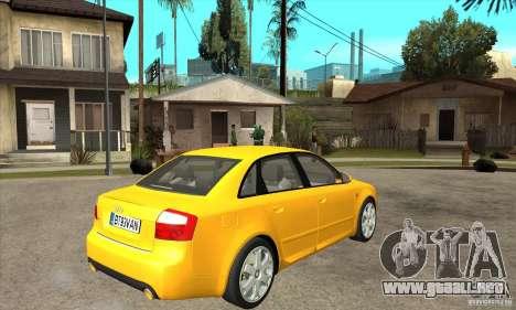 Audi S4 2004 para la visión correcta GTA San Andreas