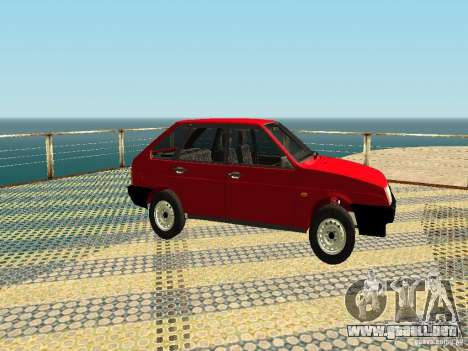 VAZ 2109 v2 para GTA San Andreas vista posterior izquierda