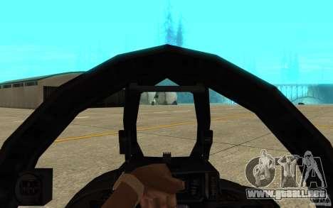 F-14 Tomcat Blue Camo Skin para visión interna GTA San Andreas
