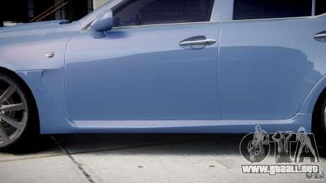Lexus IS F para GTA 4 ruedas