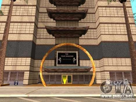 Un nuevo tipo de Casino 4 dragones para GTA San Andreas segunda pantalla