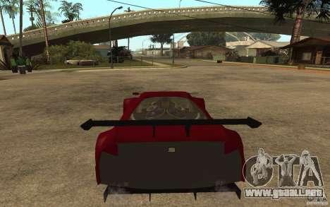 Seat Cupra GT para GTA San Andreas vista posterior izquierda