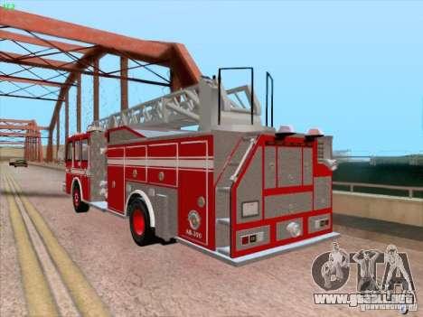 Camiao Dos Bombeiros ABE CBMESP para vista lateral GTA San Andreas