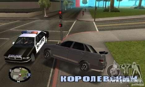 Carreras callejeras para GTA San Andreas quinta pantalla