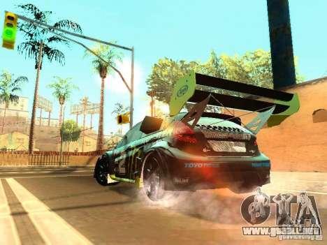 Ford Fiesta Rally Time para GTA San Andreas vista hacia atrás