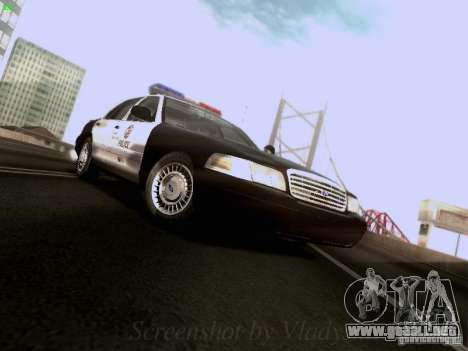 Ford Crown Victoria Los Angeles Police para GTA San Andreas