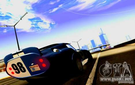 Shelby Cobra Daytona Coupe v 1.0 para GTA San Andreas vista hacia atrás