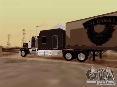 Kenworth W900 Long para visión interna GTA San Andreas