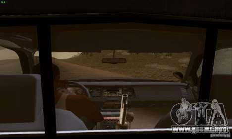 Ford Crown Victoria Kentucky Police para GTA San Andreas vista posterior izquierda