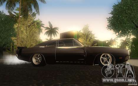 Dodge Charger RT 69 para GTA San Andreas vista hacia atrás