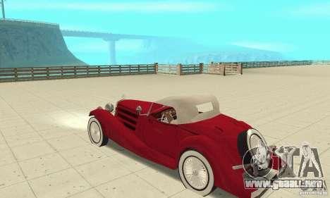 Mercedes-Benz 500K para GTA San Andreas vista hacia atrás